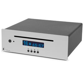 Pro-Ject CD Box DS – high end CD player (slot-in mechanism / incl. D/A converter 24bit/192kHz Burr Brown (PCM1796) / CD Audio / CD-R / CD-RW / Hybrid SACD / incl. IR remote control / silver)