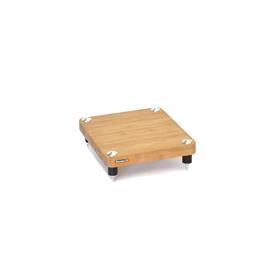 Atacama EVOQUE ECO 14/16 Compact Hi-Fi Design Edition - HiFi-Rack - Basis-Ebene (aus hellem Bambus Vollholz = natural bamboo / Beine in Satin Schwarz / inkl. Spikes)