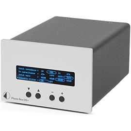 Pro-Ject Phono Box DS+ - premium phono preamplifier (MM/MC / with display / silver)