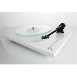 Rega Planar 2 - record player with Rega RB220 tonearm and Rega CARBON MM cartridge (high-gloss white / 2016 version)