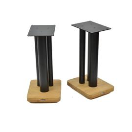 Atacama Moseco XL500 - loudspeaker stands (520 mm / black & base plate made of light bamboo solid wood = natural bamboo / 1 pair)