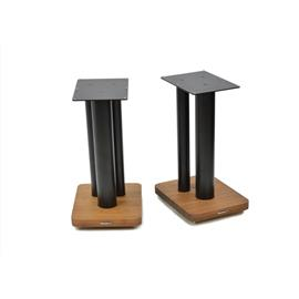 Atacama Moseco XL500 - loudspeaker stands (520 mm / black & base plate made of dark bamboo solid wood = dark bamboo / 1 pair)