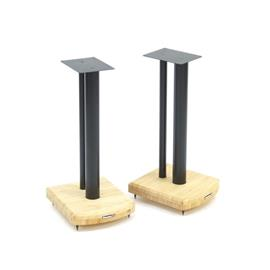 Atacama Moseco 5 - loudspeaker stands (515 mm / black & base plate made of light bamboo solid wood = natural bamboo / 1 pair)