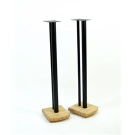 Atacama Moseco 10 - loudspeaker stands (1015 mm / black & base plate made of light bamboo solid wood = natural bamboo / 1 pair)