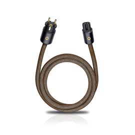 Oehlbach XXL® Powercord 300 - High-end mains cable (3,0 m / sepia brown)