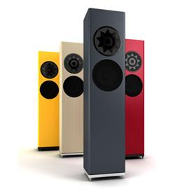 Manger Audio MSS p1 reference passive system - passive 2-way floorstanding loudspeaker (50-200 W / + aluminum base plate / available in different colours / 1 piece)