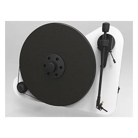"Pro-Ject VT-E BT R (for right-handed) - vertical record player with Ortofon OM 5E cartridge and Bluetooth output (white / with straight 8,6"" tonearm / Bluetooth)"
