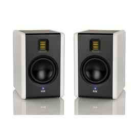 Elac AM 200 - active bookshelf loudspeakers (black/white lacquered / with JET 5 tweeter / 1 pair)