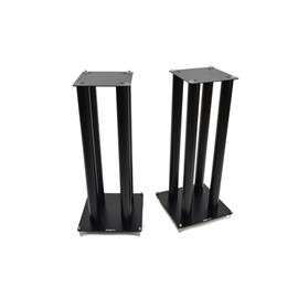 Atacama SLX700 - loudspeaker stands (745 mm / black / incl. large top plates for bigger loudspeakers / four support columns per stand / 1 pair)