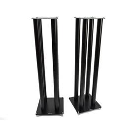 Atacama SLX1000 - loudspeaker stands (1045 mm / black / incl. large top plates for bigger loudspeakers / four support columns per stand / 1 pair)