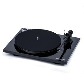 Pro-Ject Essential III - record player incl. tonearm + Ortofon cartridge OM10 (high-gloss black / incl. dust cover)