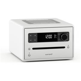 Sonoro sonoroCD 2 - stereo music system (CD / FM/DAB/DAB+ digital radio / Bluetooth / high-gloss white)