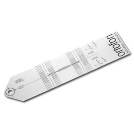 Ortofon adjustment template for turntables - cartridge alignment protractor (for perfect adjustment for pick-ups on headshells)