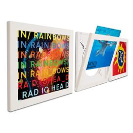 "Art Vinyl record frames - Play & Display for LPs (set of 3 / 12"" vinyl display frame / in gift package / white)"