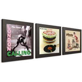 "Art Vinyl record frames - Play & Display for LPs (set of 3 / 12"" vinyl display frame / in gift package / black)"