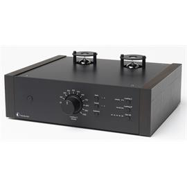 Pro-Ject Tube Box DS2 - tube phono preamplifier (MM/MC / black case with wooden side panels made of eucalyptus)
