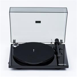 Pro-Ject Essential III Phono - record player incl. tonearm + Ortofon cartridge OM10 + phonobox (high-gloss black / with equalizer preamplifier / incl. dust cover)