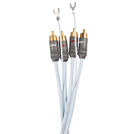 Supra Cables PHONO 2RCA-SC - phono cable, 2 x RCA to 2 x RCA with ground wire (2.0 m / incl. earth link / ice blue)