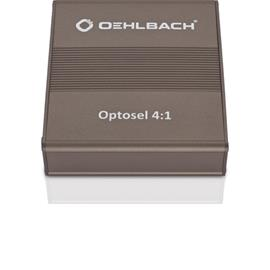Oehlbach 6040 - Optosel 4:1 - digital selector / optical distributor (supports compressed and non-compressed audio signals / incl. remote control / metallic brown)