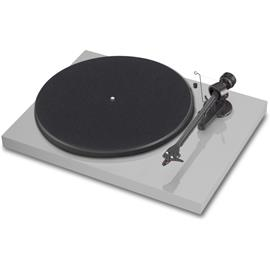 Pro-Ject Debut Carbon (DC) - record player incl. tonearm + Ortofon MM cartridge OM10 (high-gloss light grey / incl. dust cover)