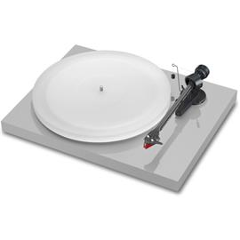 Pro-Ject Debut Carbon Esprit (DC) - record player incl. tonearm + Ortofon MM cartridge 2M Red (high-gloss light grey / incl. dust cover)