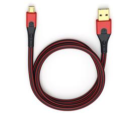 Oehlbach 9413 - USB Evolution Micro 300 - USB 2.0 cable for mobile entertainment (1 x USB-A to 1 x USB-Micro B / 3.0 m / red/black)