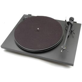 Pro-Ject Essential II Phono USB - record player incl. tonearm + Ortofon cartridge OM 5E + phonobox + USB (black / incl. USB connection / incl. dust cover)