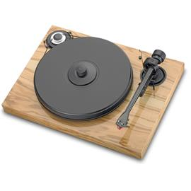 "Pro-Ject 2-Xperience Classic - manual record player incl. Pro-Ject tonearm 9cc + Ortofon MM cartridge 2M Silver (glossy olive / with straight 9"" tonearm / incl. dust cover)"
