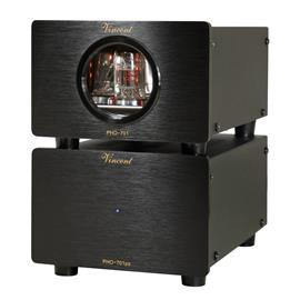 Vincent PHO-701 - phono tube preamplifier (incl. USB port / MM and MC switch on rear panel / 15 Watts power consumption / black)