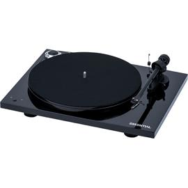 Pro-Ject Essential III RecordMaster - record player incl. tonearm + Ortofon cartridge OM10 (high-gloss black / incl. USB output / incl. dust cover)