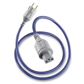 IsoTek EVO3 Premier - power cord (EU Premier on C13 / connectors made of solid OFC copper with 24 carat gold plated copper pins / blue / 1.5 m)