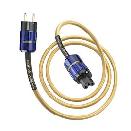 IsoTek EVO3 Elite - power cord (EU Elite on C15 / connectors made of solid OFC copper with 24 carat gold plated conductors / gold / 2.0 m)