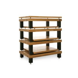 Hi-Fi Racks Ltd. Podium Reference - hifi rack - 4 levels (total of 4 shelves with isolation platforms in walnut / with black legs) - RRP = 3.999,- Euro