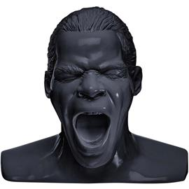 "Oehlbach 35403 - Scream - headphone stand in the form of the ""Oehlbach head"" (black)"