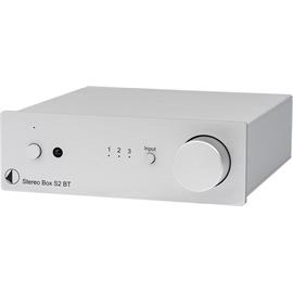 Pro-Ject Stereo Box S2 BT - high end integrated amplifier with Bluetooth input (incl. wireless Bluetooth streaming / incl. IR remote control / silver)