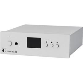Pro-Ject Tuner Box S2 - micro-sized FM tuner (high-contrast dot-matrix display / incl. IR remote control / incl. power supply / silver)