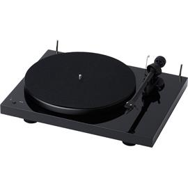 Pro-Ject Debut III RecordMaster - record player incl. tonearm + Ortofon MM cartridge OM 5E (high-gloss black / incl. MM phono preamplifier / incl. dust cover)