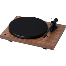Pro-Ject Debut III RecordMaster - record player incl. tonearm + Ortofon MM cartridge OM 5E (walnut veneer / incl. MM phono preamplifier / incl. dust cover)