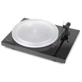 Pro-Ject Debut Carbon RecordMaster HiRes - record player incl. tonearm + Ortofon MM cartridge 2M Red (high-gloss black / incl. MM phono preamplifier / incl. dust cover)