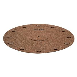 music hall mat - turntable pad (mat made of natural cork / brown)