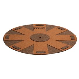 music hall aztec blue mat - turntable pad (mat made of natural cork / brown)