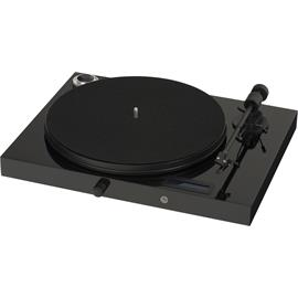 Pro-Ject Juke Box E - record player + amplifier (high-gloss black / Bluetooth / line input / easiest possible set-up/ incl. Ortofon OM 5E / incl. dust cover)