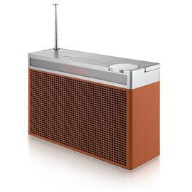Geneva Touring/L - portable Bluetooth loudspeaker (Bluetooth / FM / DAB+ / cognac)