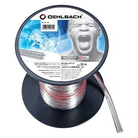 Oehlbach 182 - Silverline SP-15 - loudspeaker cable flexible mini-coil (30 m / clear / silver-plated / 2 x 1.5 qmm)