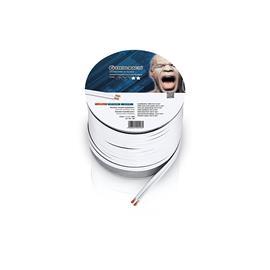 Oehlbach 198 - Speaker Wire SP-25 3000 - loudspeaker cable flexible Mini-coil (30 m / white / copper / 2 x 2.5 qmm)