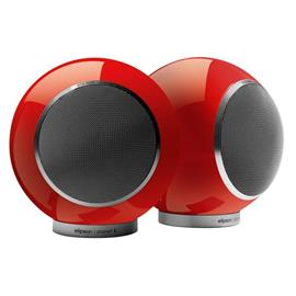 Elipson Planet L - 2-way bookshelf loudspeakers (red / 30-80 Watts / 1 pair)
