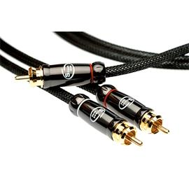 Silent Wire SERIE 4 MK2 - RCA subwoofer cable (1 x RCA to 2 x RCA / 2.0 m / black)