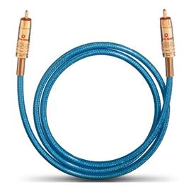 Oehlbach 2064 - NF 113 DI 50 - digital audio RCA cable (1 x RCA to 1 x RCA / 0.5 m / blue/gold)