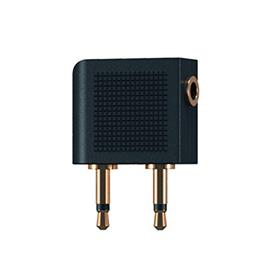 Oehlbach 35015 - i-Jack A-D Flight - mobile audio adapter (2 x 3.5 mm to 3.5 mm / black)