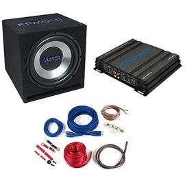 CRUNCH CBP500 - 500 Watts basspack - car hifi bass system complete set (package consisting of 1 x amplifier Crunch GPX500.2, 1 x subwoofer Crunch GPX350, 1 x cable set Crunch GPX10WK)